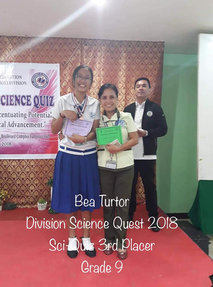 Junior High Students Topped the 2018 Division Science Quest
